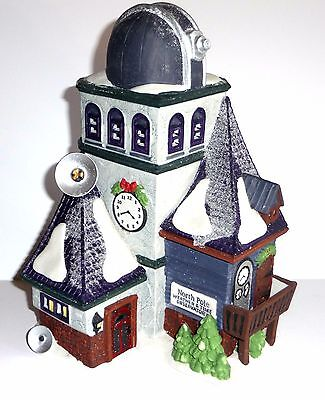 Department 56 Weather & Time Observatory Christmas Village w Box North Pole
