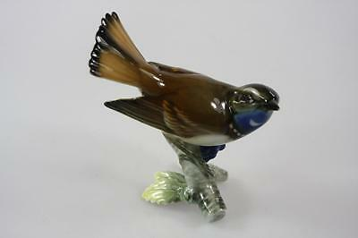 VINTAGE GERMANY ACHTZIGER PORCELAIN GRACEFUL COLOURFUL FINCH BIRD marked