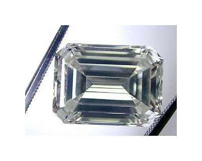 1.74ct Crystal Carbon EMERALD Synthetic Stone.Replaces Diamond Moissanite