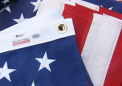 Valley Forge US American Flag 4'x6' BEST Cotton -Commercial/Heirloom Grade USA