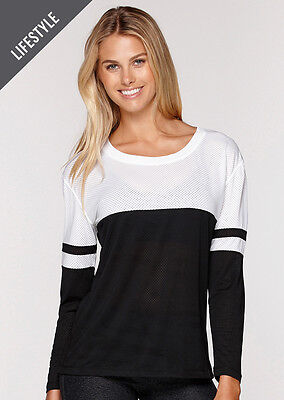 NEW Womens Lorna Jane Activewear   Eyes On Me L/Slv Active Top