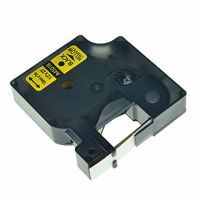 1PK 45018 D1 Black on Yellow Label Tape Compatible With DYMO LabelManager 500TS