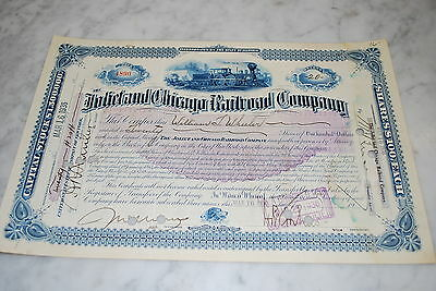 Stock Certificate - Joliet and Chicago Railroad Company – Illinois 1936
