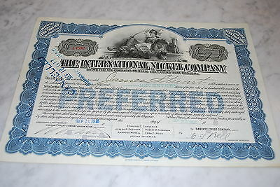 Stock Certificate - THE INTERNATIONAL NICKEL COMPANY – 1916