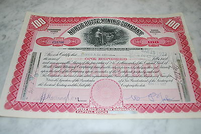 Stock Certificate - NORTH BUTTE MINING COMPANY – MINNESOTA 1937