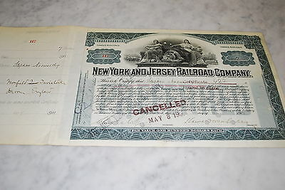 Stock Certificate - New York and Jersey Railroad Company – 1902
