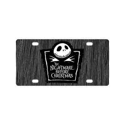 Nightmare before Christmas Metal Car Tag Decor License Plate for Car 6 x 12 Inch