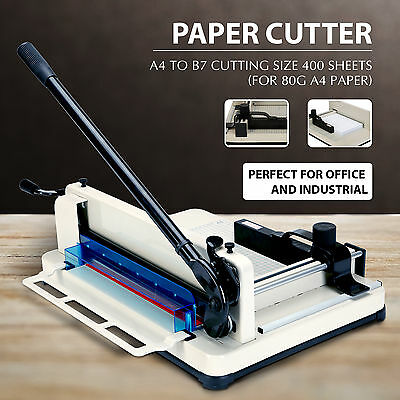 "12"" Guillotine Paper Cutter Heavy Duty Metal Base Trimmer Machine A4-B7 Paper"