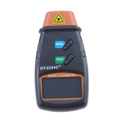 Professional Digital Laser Photo Tachometer Non Contact RPM Tach Orange+Black SH