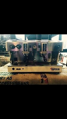 Cheap Brand New Wega Atlas Two Group Commercial Coffee Machine In White