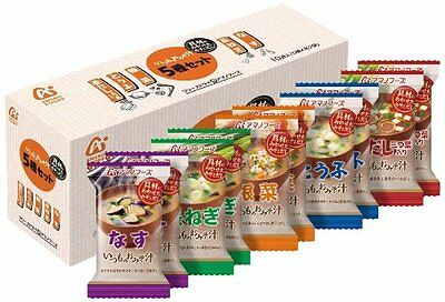 New Amano Foods Freeze-dried Miso Soup  5 taste 10pcs Set  Japan Import Free P&P