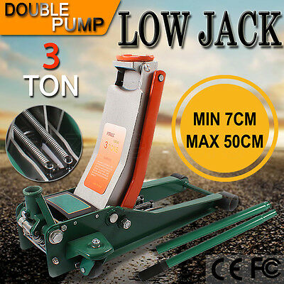 3 Ton Capacity Lifting Trolley Jack 3000kg Low Profile Pump Low Hydraulic Truck