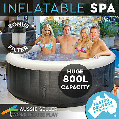 Inflatable Spa Bath 4-6 Person Airtime Pool Hot Tub Massage NEW