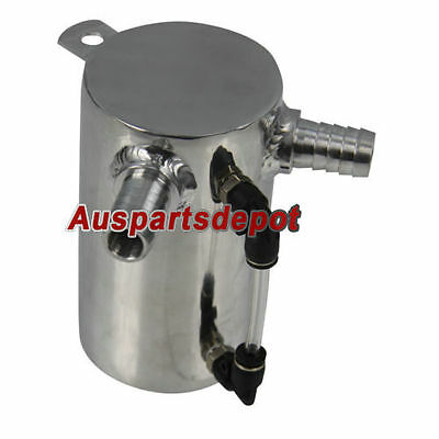 new POLISHED ALUMINIUM 0.5L OIL CATCH CAN BREATHER TANK RESERVOIR