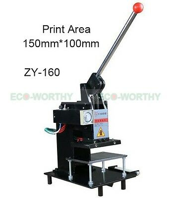 New Manual 220V Hot Foil Stamping Machine Leather Logo embossing Machine 15*10CM