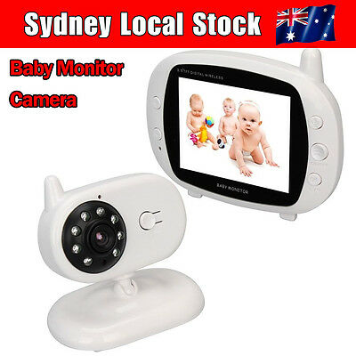 """3.5""""Color LCD Digital Wireless Baby Monitor Camera Wifi Night Vision Audio Video"""