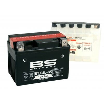 BATTERIA BS 12V 3Ah BTX4L-BS =YUASA YTX4 BS MINI QUAD ATV Pit Bike 50 90 110 125