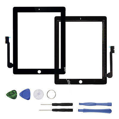 For iPad 3 Touch Screen Glass Lens Replacement +Digitizer+Adhesive+ Repair Tools