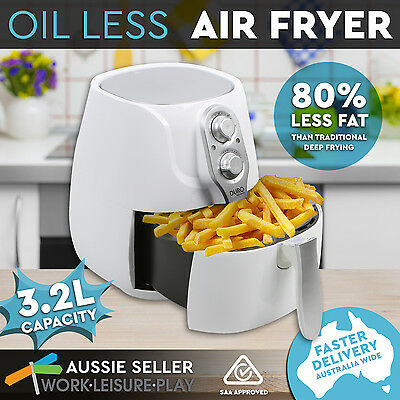 New Air Fryer 3.2L Low Fat Oil Free Rapid Healthy Deep Cooker Kitchen White