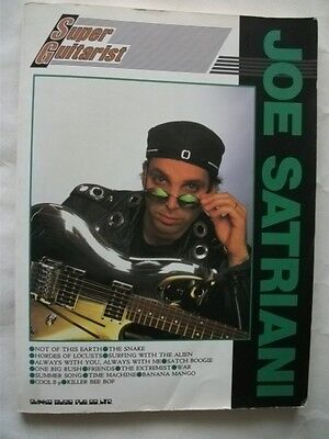 Joe Satriani Super Guitarist Japan Guitar Score Tab