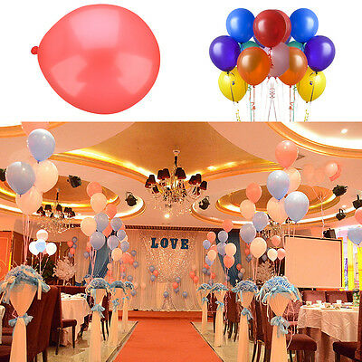 "100x PEARLISED HELIUM QUALITY LATEX BALLOONS 10""""WEDDING BIRTHDAY ATMOSPHERE"