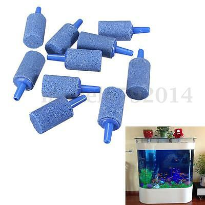 20Pcs Oxygen Cylinder Bubble Aeration Aerator Air Stone Aquarium Fish Tank Pump