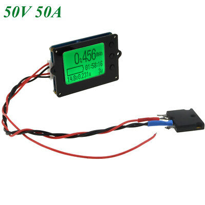 50V50A Capacity Tester Coulomb Counter Coulometer For LiFePO4 Lithium LiPo/LiIon