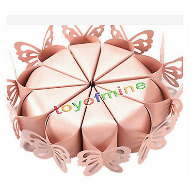 10× Paper Handmade Cake Candy Box Butterfly Wedding Party Favor Gift Baby Shower