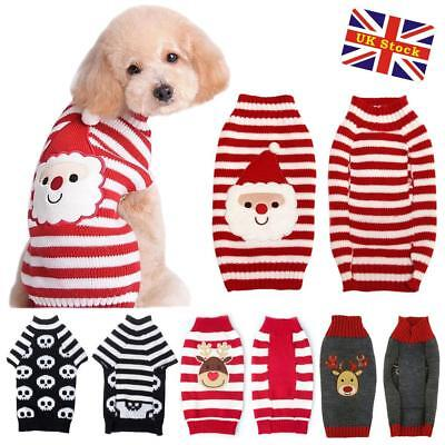 Dog Pet Puppy Cat Jumper Knit Sweater Clothes Warm Costume Apparel Christmas
