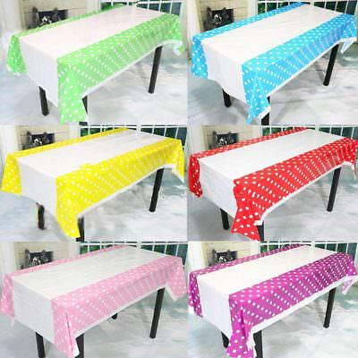 Plastic Polka Dot Table Cover Disposable Table Cloth Birthday Wedding Party Deco