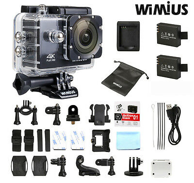Wimius 4k sports action camera Waterproof HD 1080P 60fps wifi Video Camcorder dv