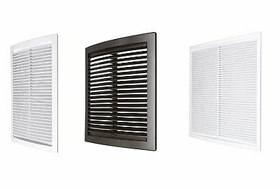 Air Vent Grille with Fly Screen Ducting Ventilation Cover Wall Ceiling Louvre
