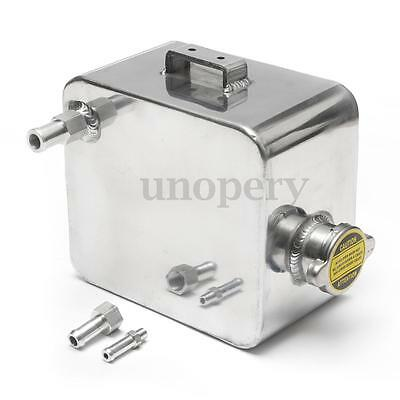 Universal Aluminium Alloy 2 Litre Header Expansion Water Tank & Cap Fitting