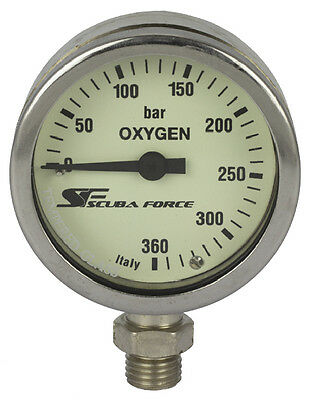 SF-1 TopDeal:ScubaForce Finimeter Kapsel SPG52 360bar OXY wahlweise mit Schlauch