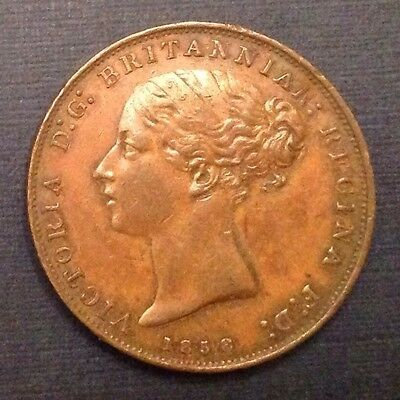 1858 Jersey 1/26 Shilling Queen Victoria