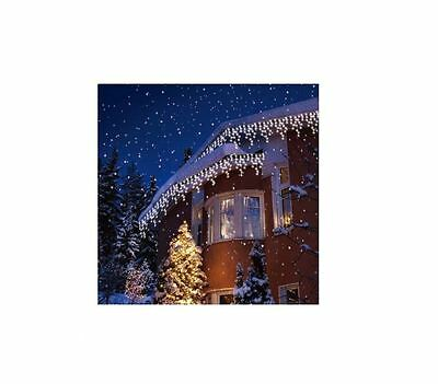 Christmas White Led Bright Snowing Icicle Lights Wedding Party Xmas Outdoor