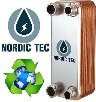 Stainless steel plates PLATE HEAT EXCHANGER brazed NORDIC TEC 25-65kW