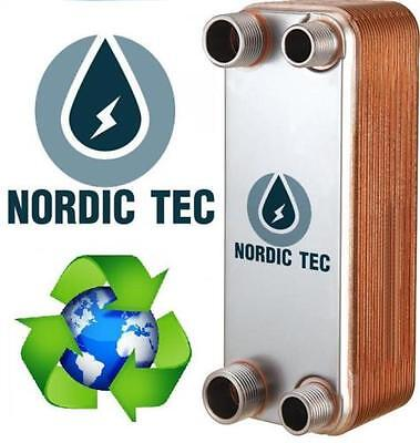 Stainless steel plates PLATE HEAT EXCHANGER brazed NORDIC TEC 25-65kW Ba-12