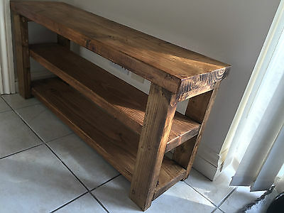Handcrafted British Made Solid Wooden Shoe Bench Seat