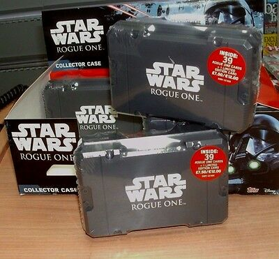 Topps Disney Star Wars Rogue One Trading Card Collector Case: 39 Cards + Ltd Ed
