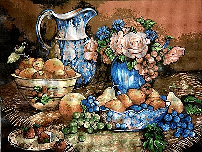 """Gobelin Tapestry Needlepoint Kit """"Still life"""" hand embroidery printed canvas 081"""