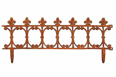 Garden edge iron boarder fence antique style