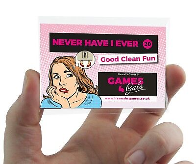 NEVER HAVE I EVER HEN PARTY GAME Hen Do Drink If I Have never CLEAN or DIRTY