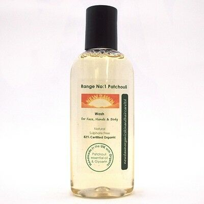 TRAVEL SIZE WASH - 100ml Toiletries - Organic Shower Gel for Face, Body & Hands