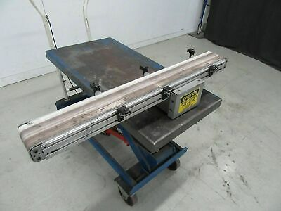 """Flat Belt Conveyor 4"""" x 38"""" ( Used and Tested )"""