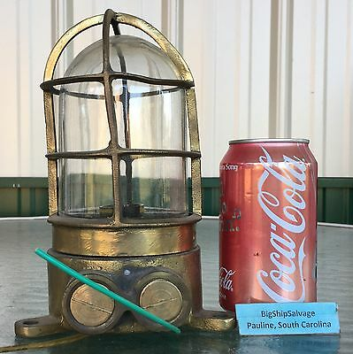 Marine Nautical Brass Ship Passage Light - Rewired & Ready