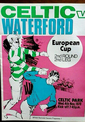Celtic V Waterford 4/11/1970 European Cup