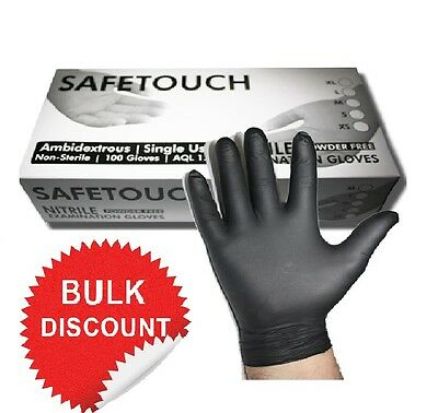 Extra Strong Black Nitrile Disposable Gloves Powder & Latex Free Tattoo Mechanic