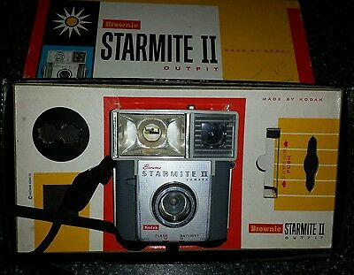 Vintage Kodak Brownie Starmite Ii Camera With Original Box