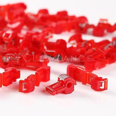 100pc 3M 951 T-TAP Quick Wire Connectors Red 22-18 AWG Gauge Car Audio Terminals